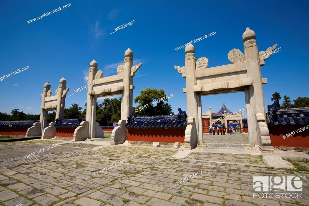 Stock Photo: View of Temple of Heaven.