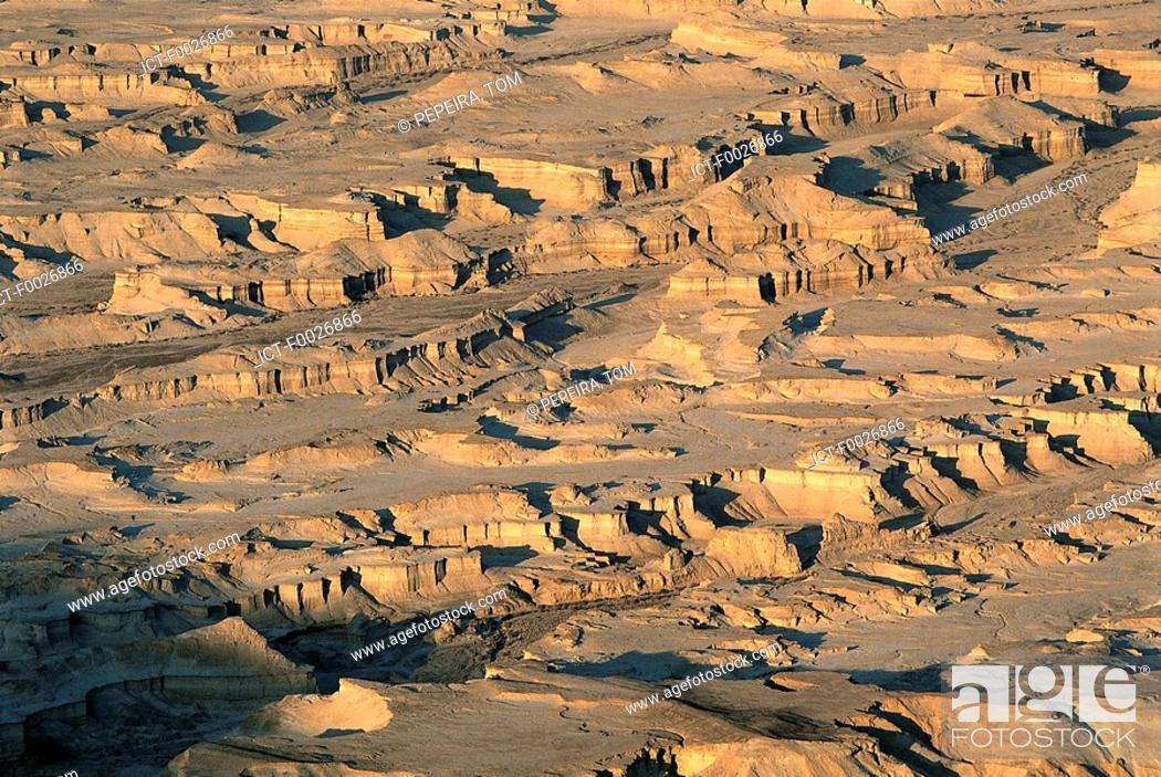 Stock Photo: Israel, Dead Sea area, Judean desert, Masada.