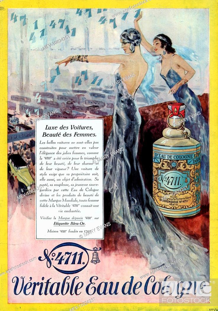Art Deco Magazine Advertisement for 4711 Eau de Cologne, Stock