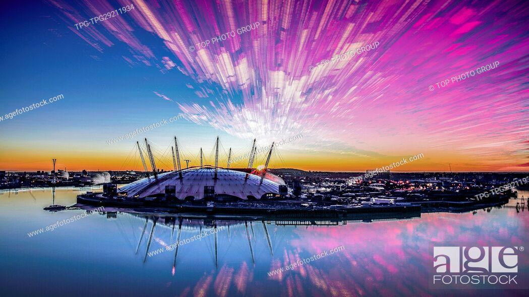 Imagen: Millennium Dome;River Thames;London;Britain.