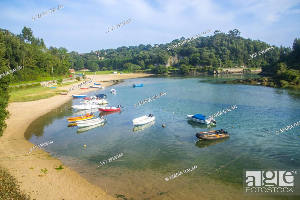 Stock Photo: Ria. Niembro, Asturias, Spain.