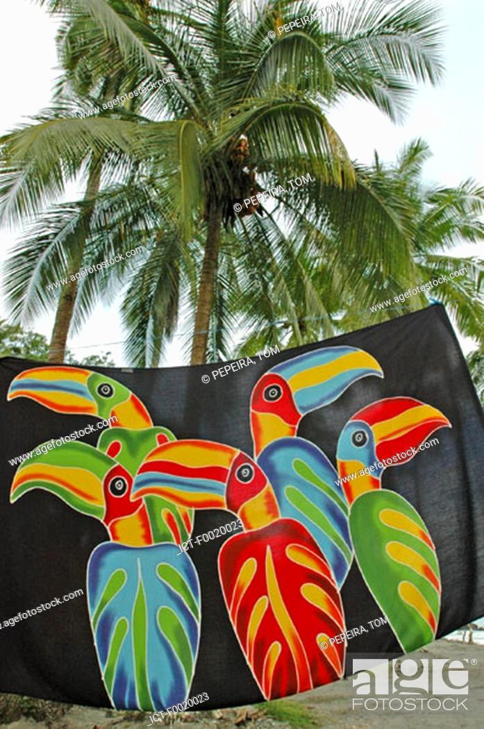 Stock Photo: Costa Rica, Manuel Antonio National Park, beach towel.