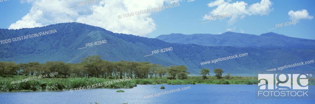 Stock Photo: Ngorongoro Crater Tanzania Africa.