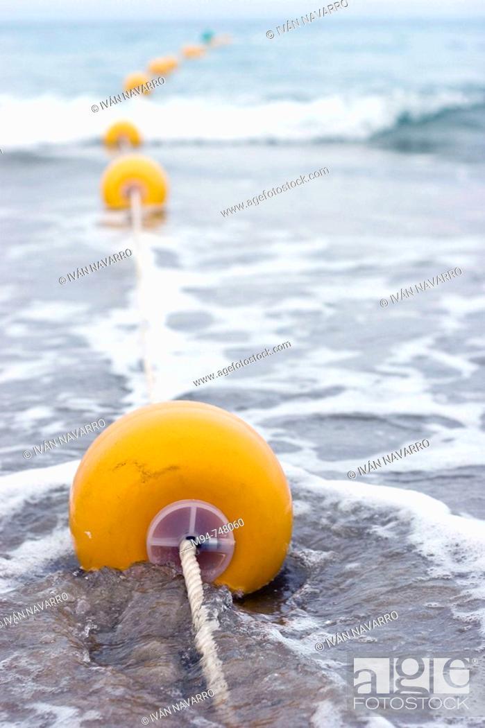 Stock Photo: buys on the beach, San Juan Beach, Alicante.