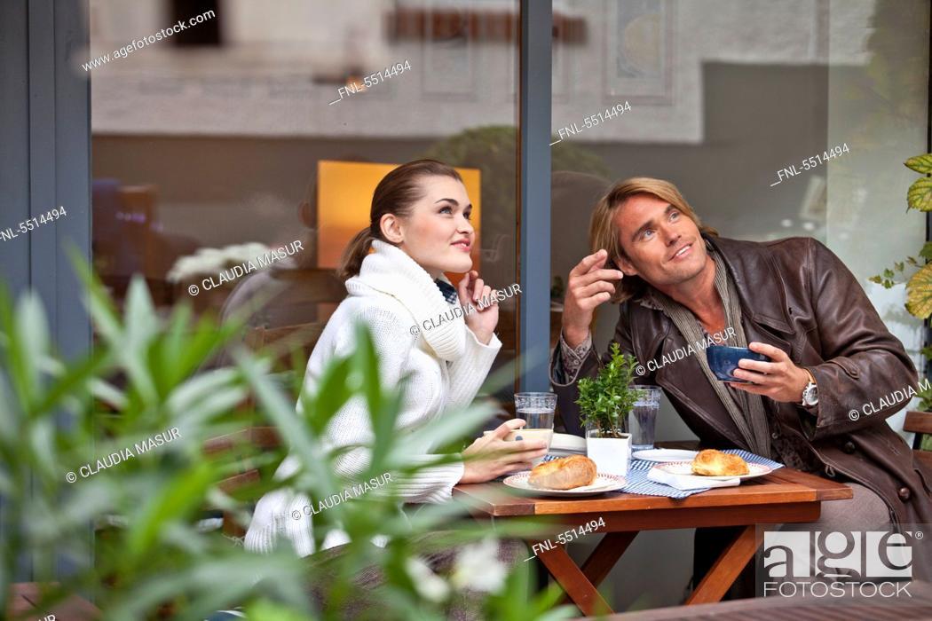 Stock Photo: Couple shopping, Kronberg, Hesse, Germany, Europe.