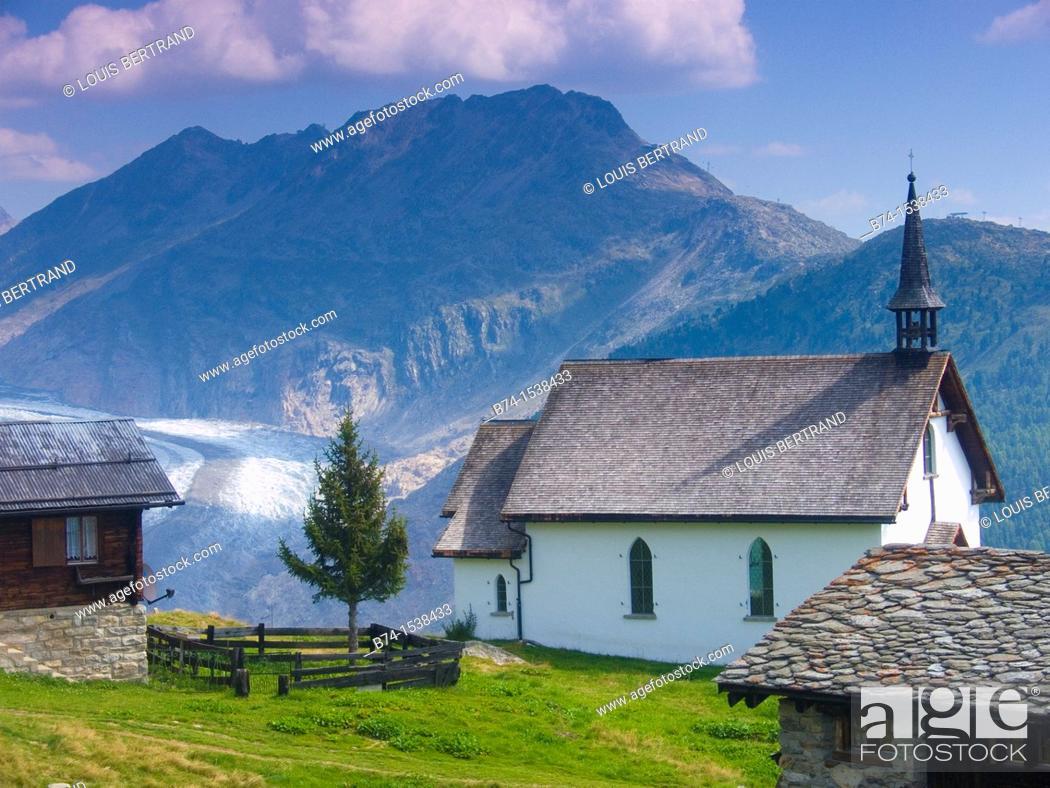 Stock Photo: bell alp, valais, swiss.