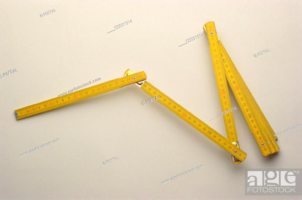 Stock Photo: Folding rule.