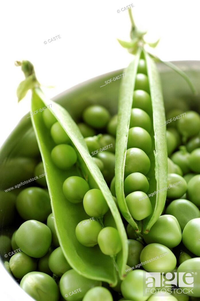 Stock Photo: pods of peas.