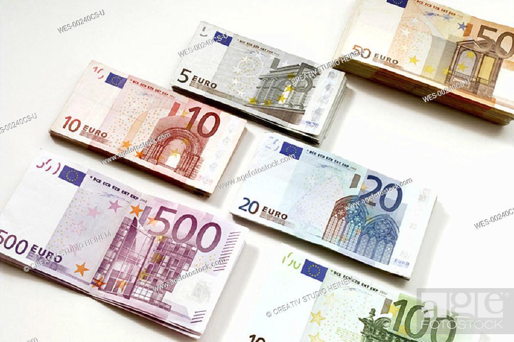 Stock Photo: Euro heaps.
