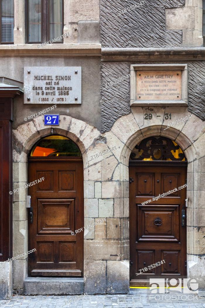 Stock Photo - Door style on the streets of the old town district of Geneva & Door style on the streets of the old town district of Geneva Stock ...