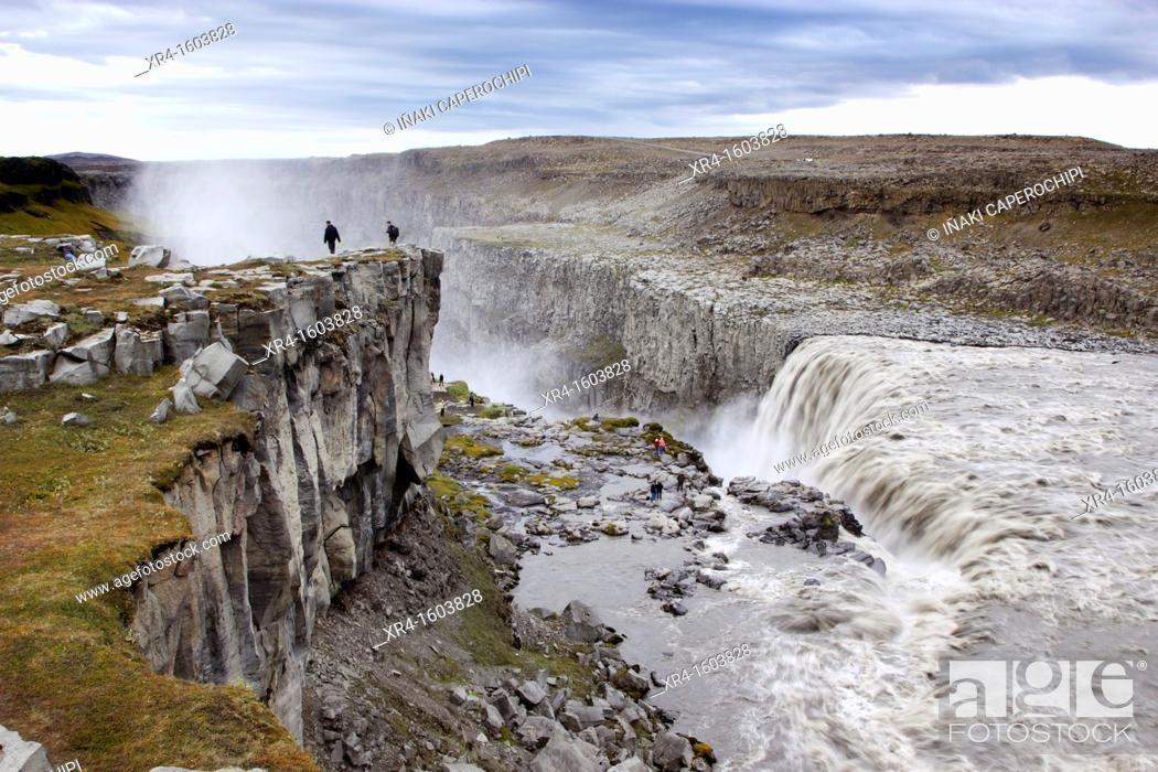 Stock Photo: Dettifoss Waterfall, Jökulsá á Fjöllum river, Iceland.