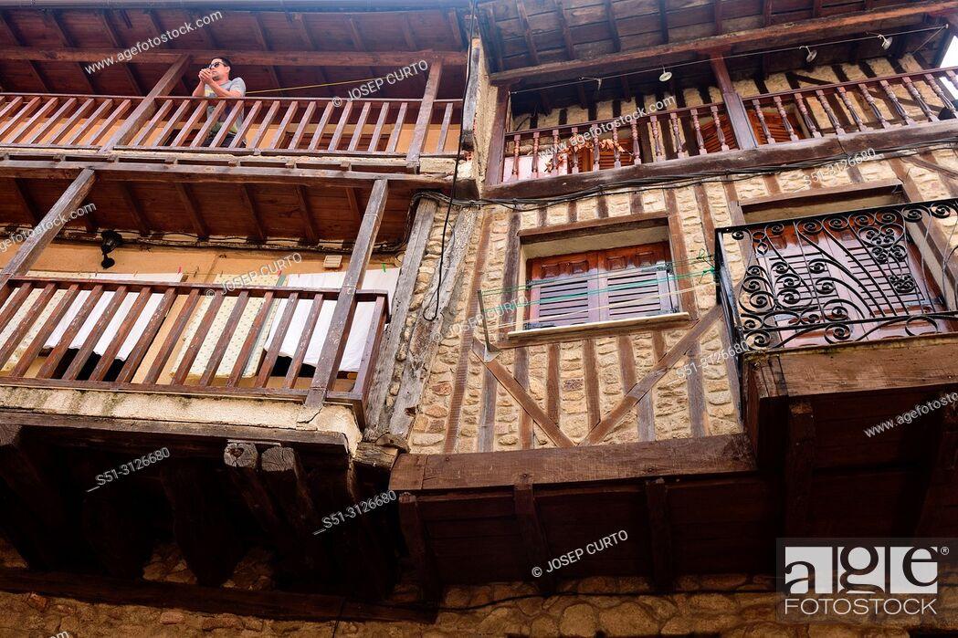 Photo de stock: balcony San Martin del Castanar; Sierra de Francia Nature Reserve; Salamanca province; Castilla Leon; Spain.