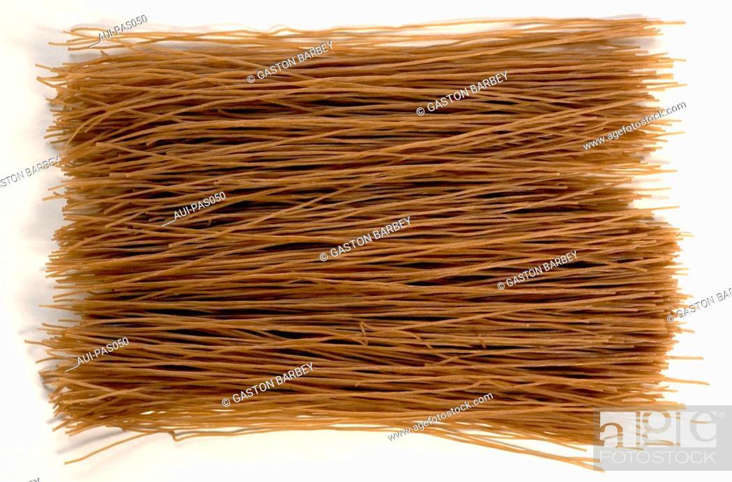 Stock Photo: Pasta - Buckwheat Pasta - Asian Noodles.