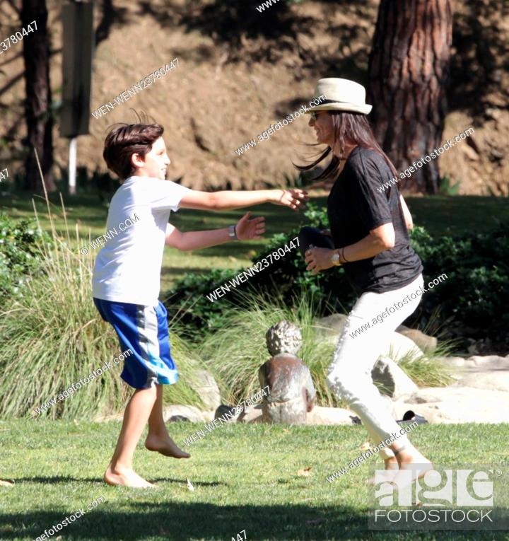 Lauren Silverman Enjoys A Day In The Park With Her Two Sons Adam And
