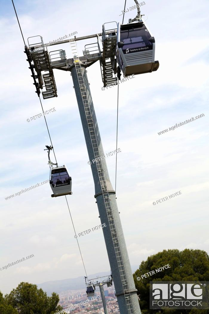 Stock Photo: cable car tower against sky.