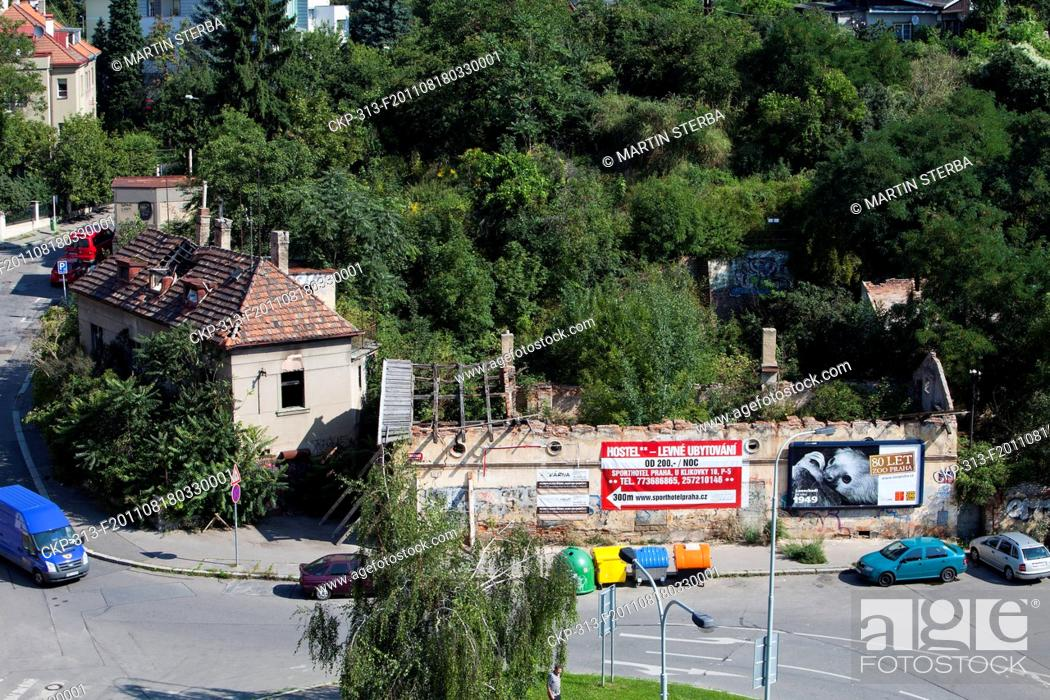 Stock Photo: Dilapidation of Prague's famous old colony Budanka, placed in quarter Kosire, Smichov Pictured on August 18, 2011 CTK Photo/Martin Sterba.