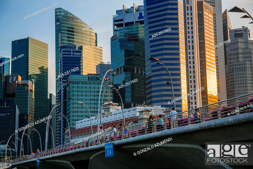 Stock Photo: Central Business District. Singapore City Skyline. Singapore. Asia.