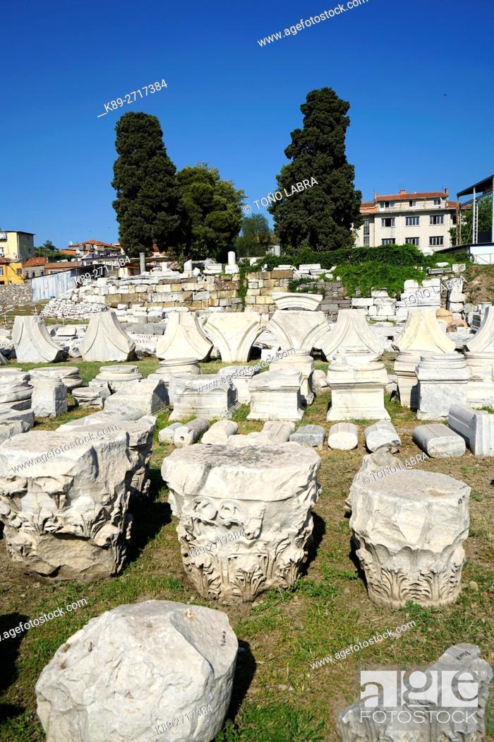 Stock Photo: Agora of Smyrna. Ancient Classic Greece. Asia Minor. Turkey.