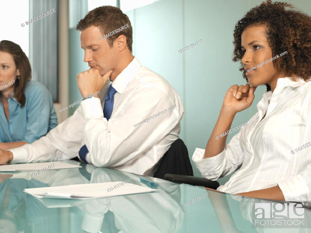 Stock Photo: Office workers in a meeting.