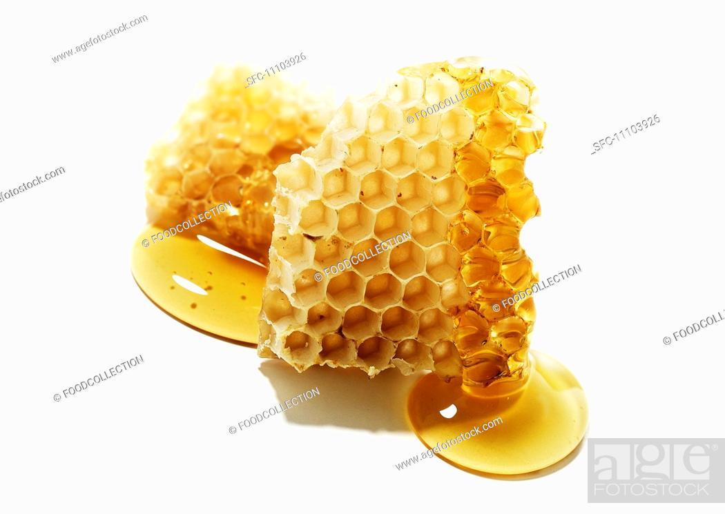 Stock Photo: Honeycomb with Honey from Santa Barbara Honey Co.