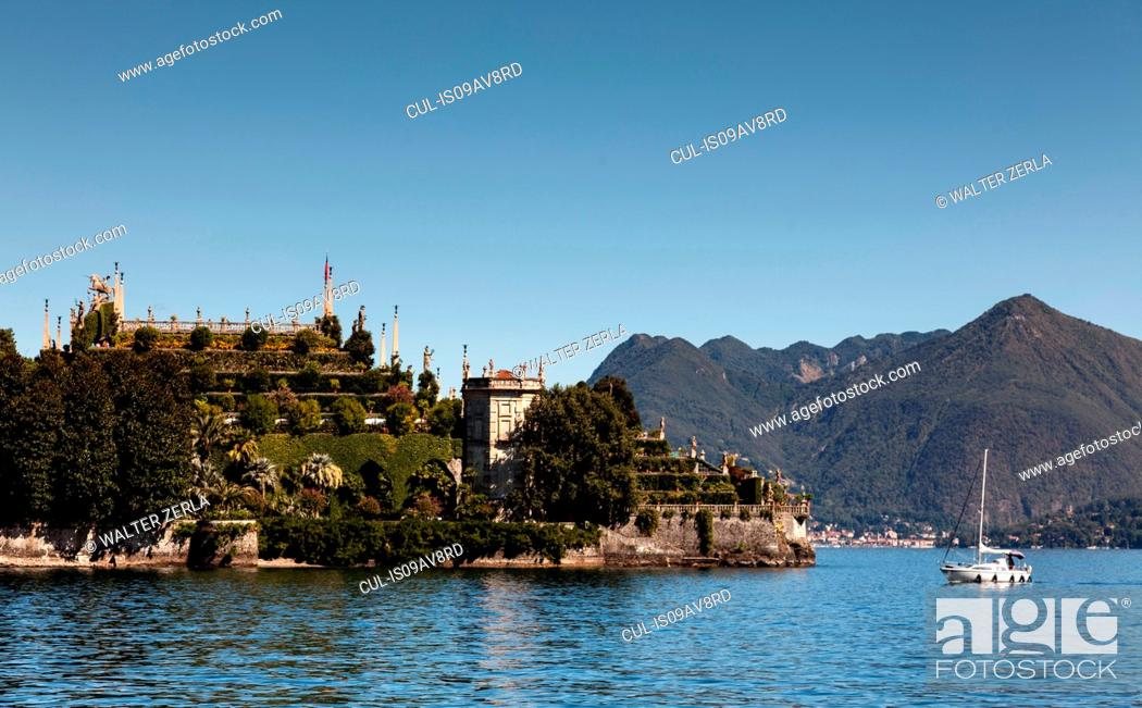 Stock Photo: Isola Bella, Lake Maggiore, Piedmont, Lombardy, Italy.