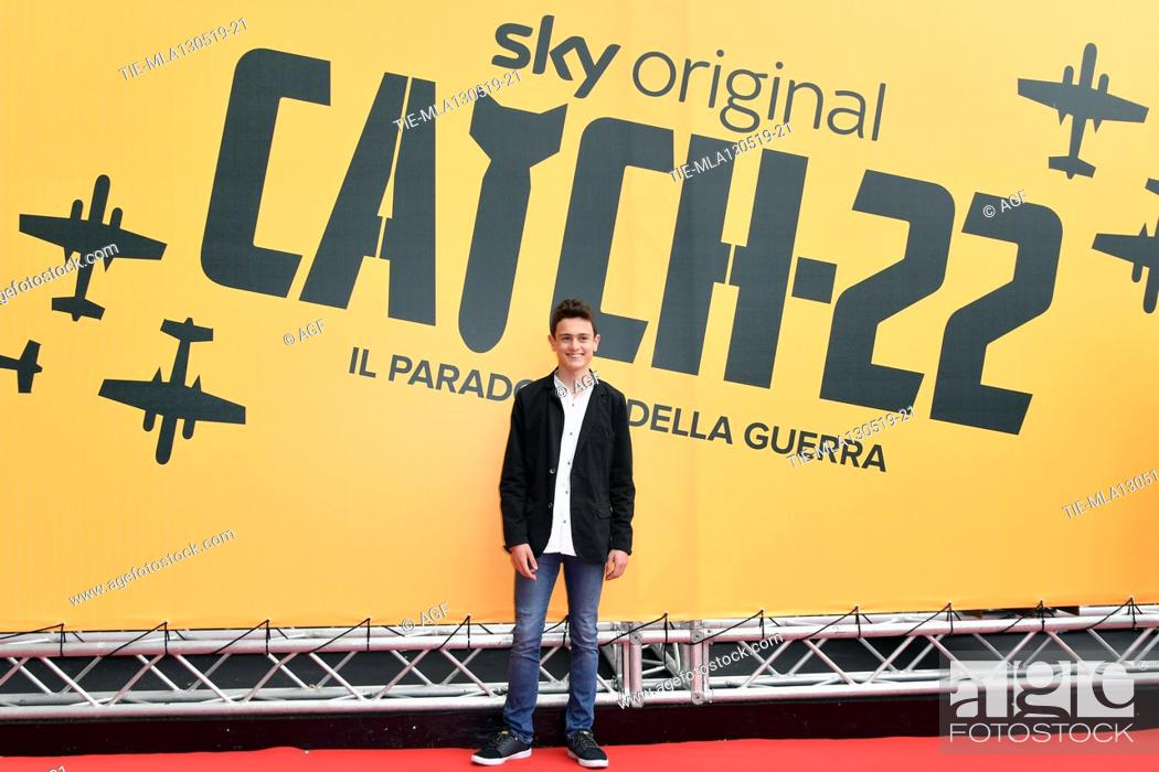 Stock Photo: Giovanni Stocchino during 'Catch-22' TV show photocall, Rome, Italy - 13 May 2019.