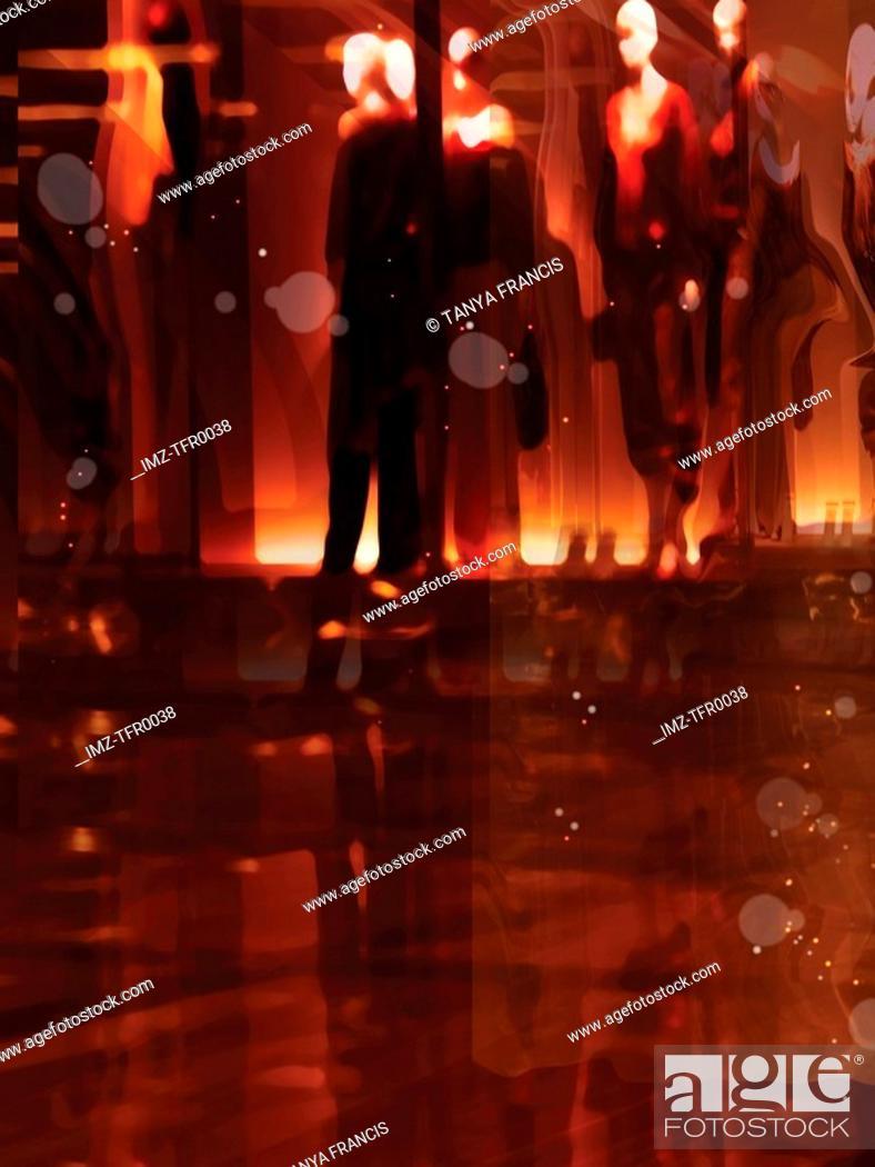 Stock Photo: A graphic representation of purgatory.