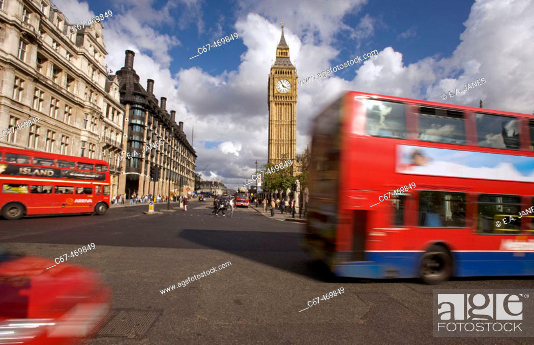 Stock Photo: Parliament square. Westminster. London. England. UK.