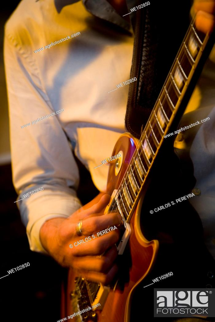 Stock Photo: blues in live at Ain't Nothing but the Blues in the Soho, London, Great Bretain.