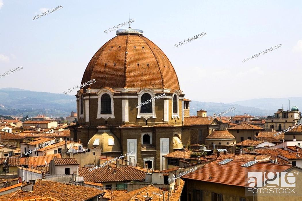 Stock Photo: Cathedral in a city, Duomo Santa Maria Del Fiore, Florence, Tuscany, Italy.