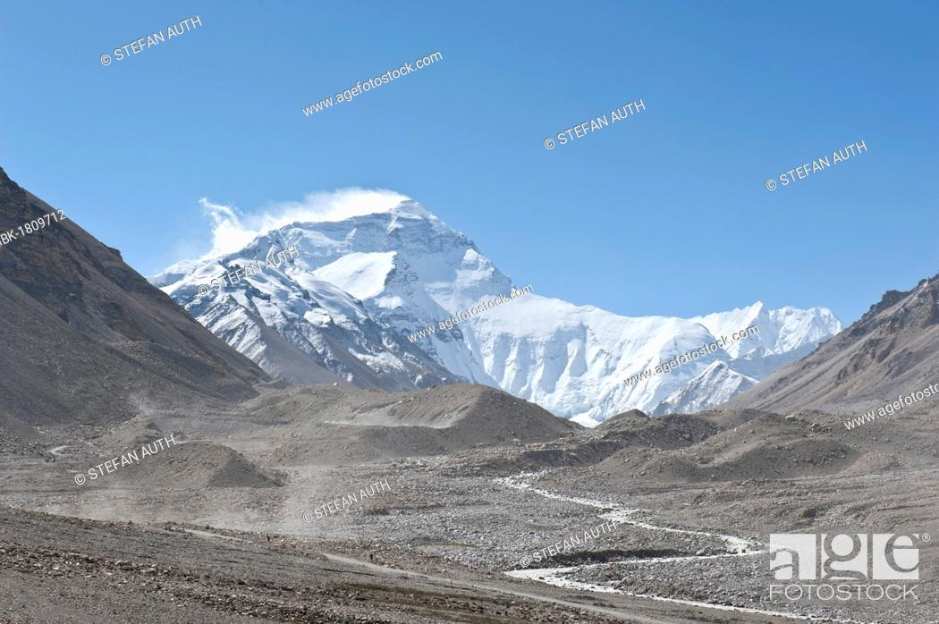 Summit Of Mount Everest Base Camp North Glacier Flow Terminal