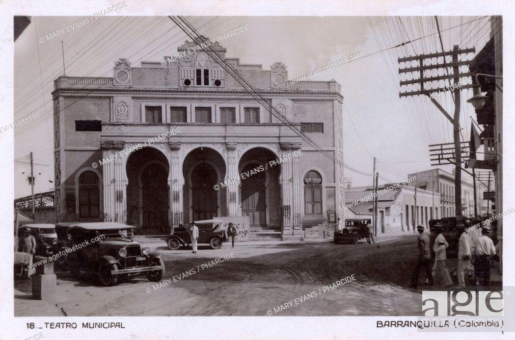 Stock Photo: Municipal Theatre, Barranquilla, Colombia, Central America.