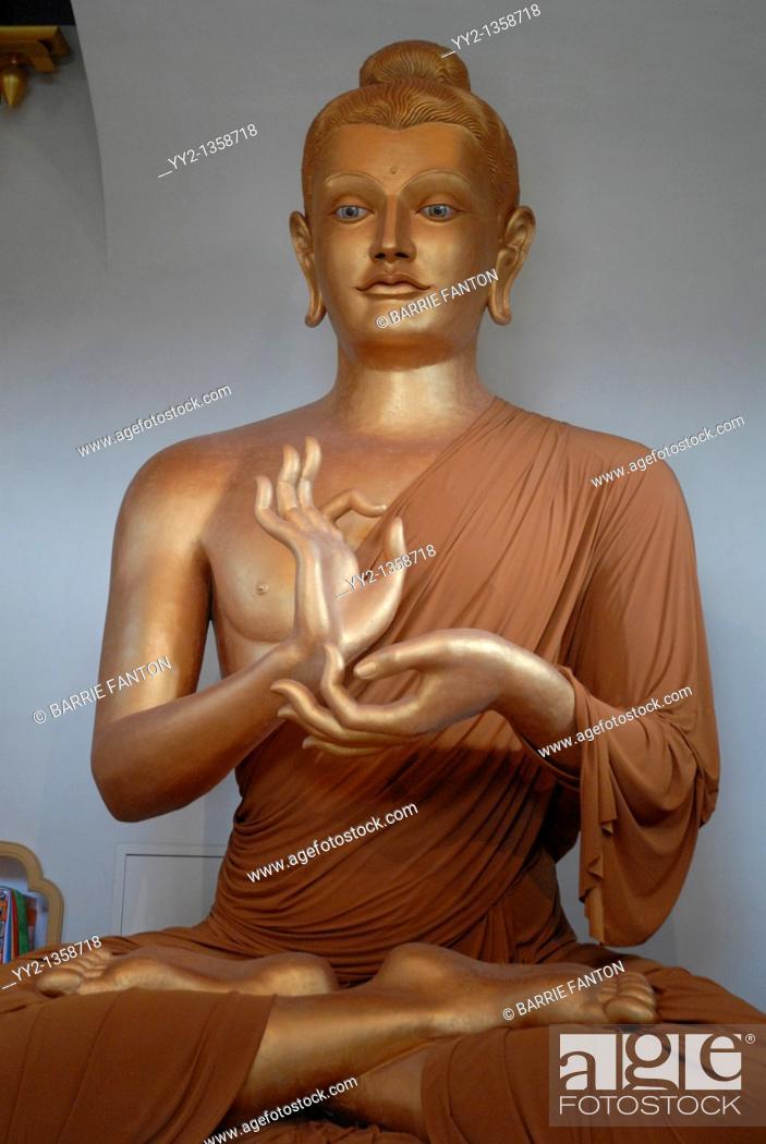 Stock Photo: Buddha, Shambhala Mountain Center, Red Feather Lakes, Colorado.