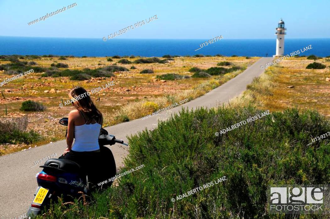 Stock Photo: Lighthouse, Formentera, Balearic Islands, Spain.