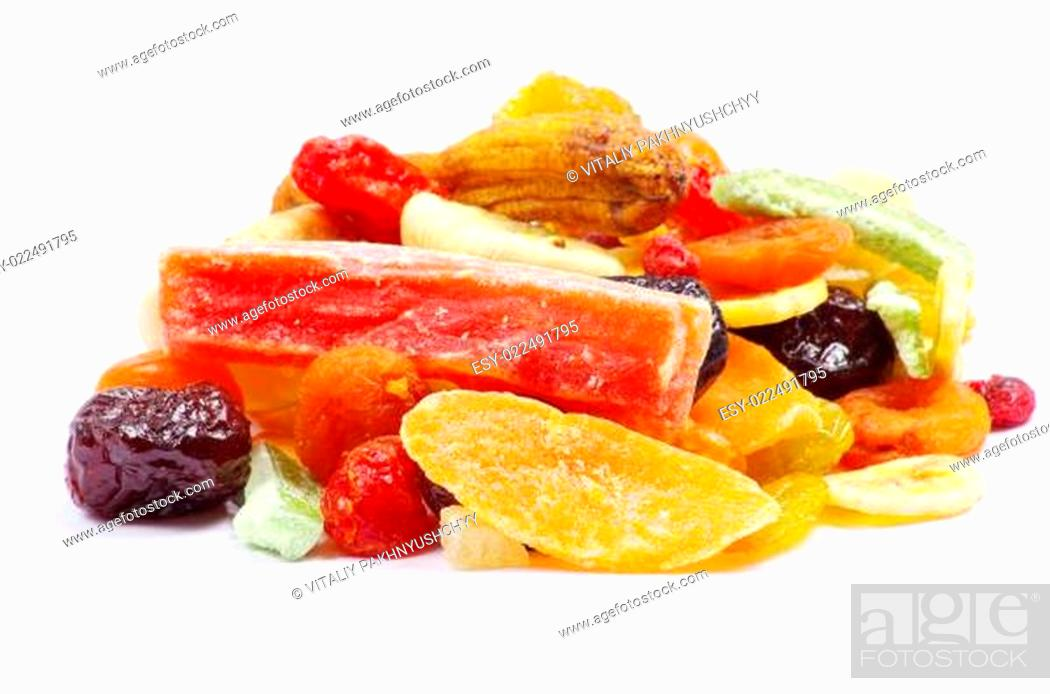 Stock Photo: dried fruits collection.