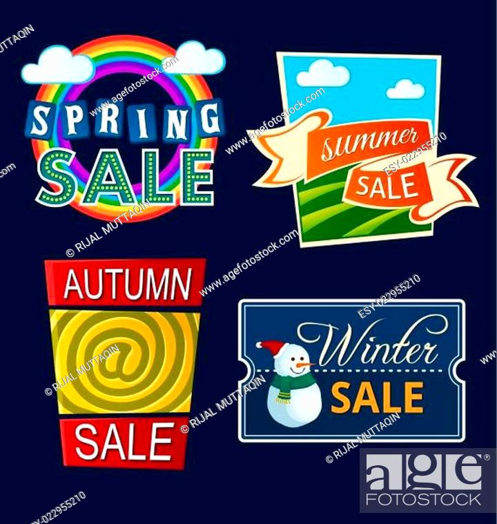 Stock Vector: various seasonal sale event tittle.