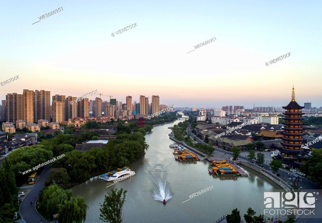 Stock Photo: China's current situation of jiangsu province qingjiang pu scenery.