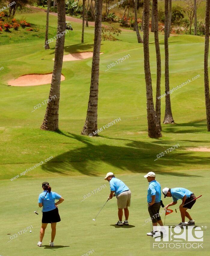 Stock Photo: golf foursome.