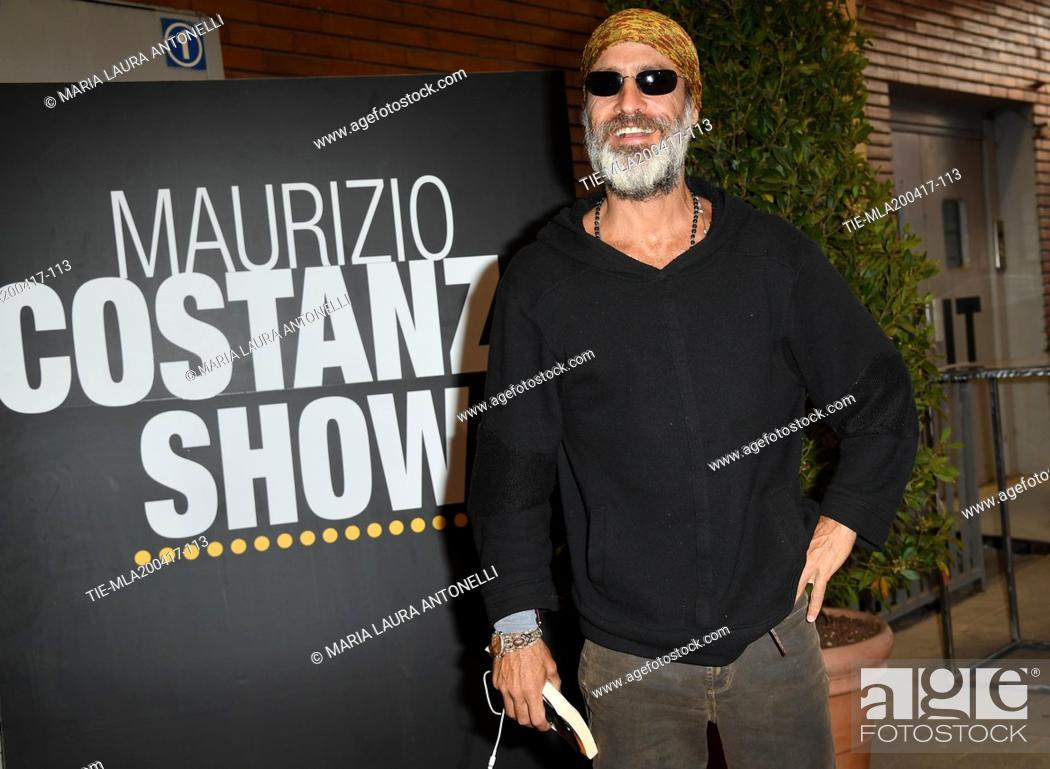 Photo de stock: The former model Raz Degan at tv program Maurizio Costanzo Show, Rome, ITALY-20-04-2017.