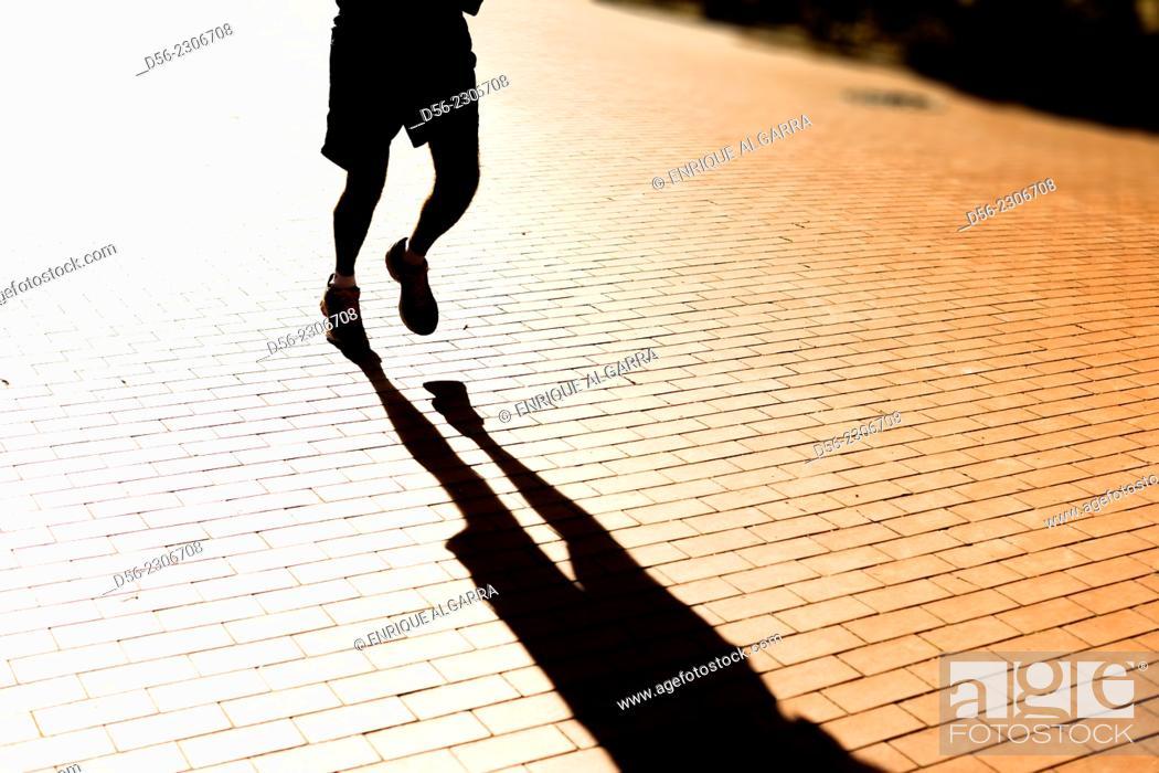 Stock Photo: Runner, Valencia, Spain.