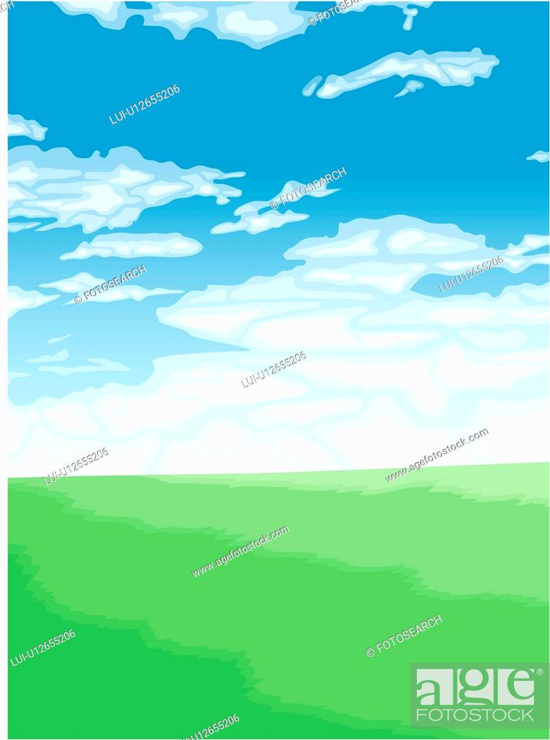 Stock Photo: grass, ground, background, view, jobscene, sports.