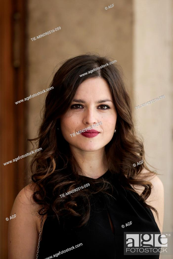 Stock Photo: Ivana Lotito attends the photocall of the fiction Gomorrah 2, Rome, Italy 09/05/2016.