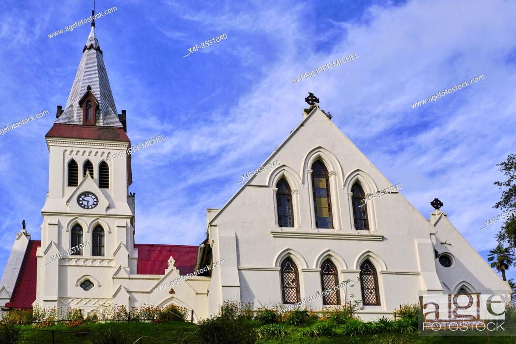 Stock Photo: India, West Bengal, Darjeeling, St. Andrews Church.