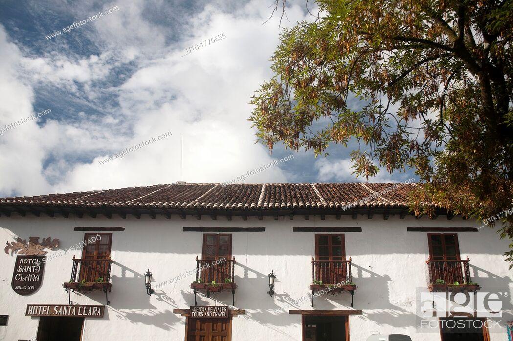 Stock Photo: Hotel Santa Clara, San Cristóbal de las Casas, Chiapas, México.