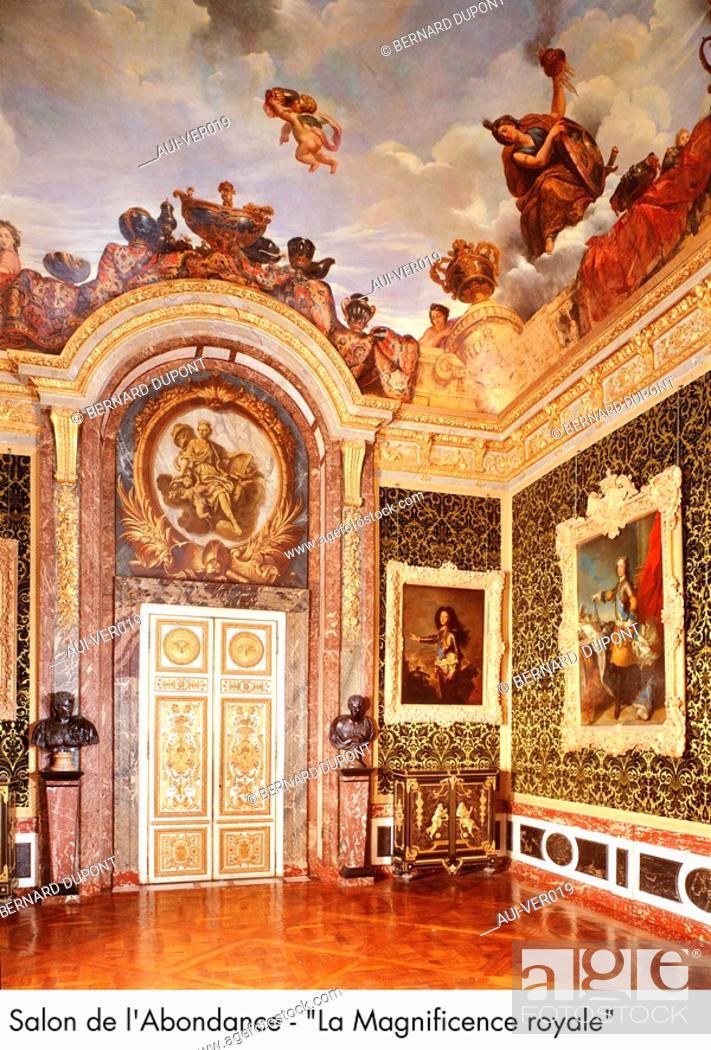 Stock Photo: Palace of Versailles - Salon de l'Abondance - La Magnificence royale.