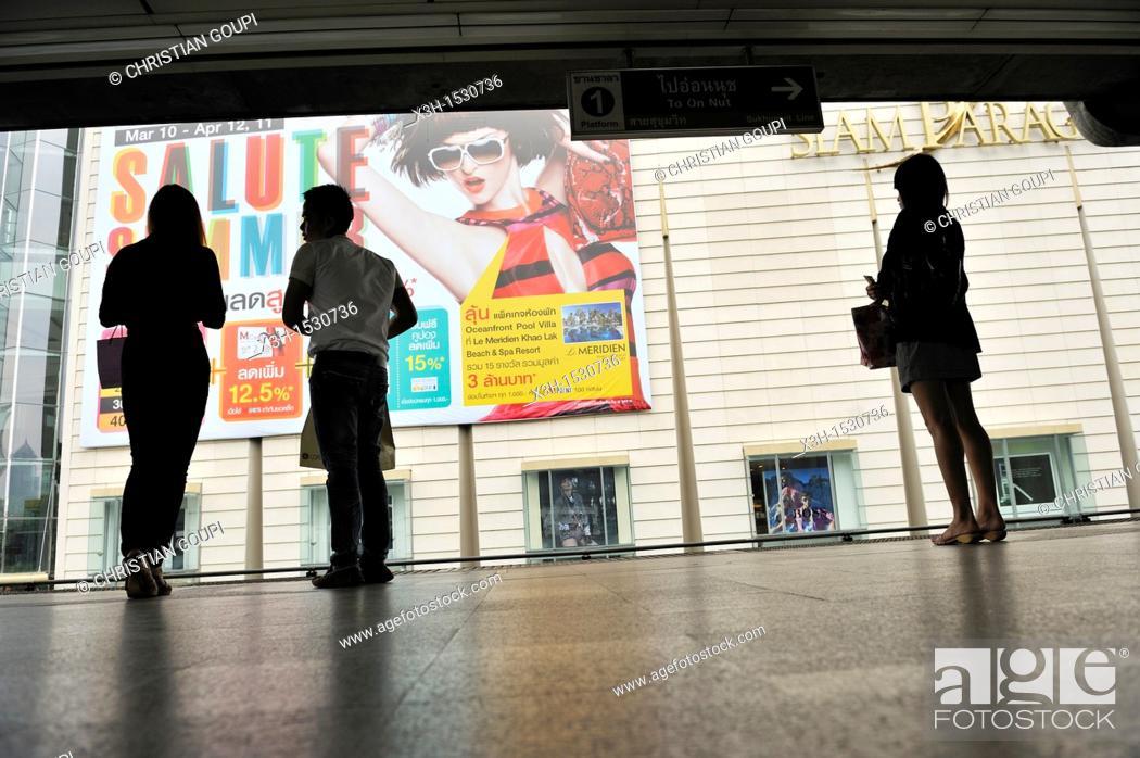 Stock Photo: BTS Skytrain Bangkok, Thailand, Asia.