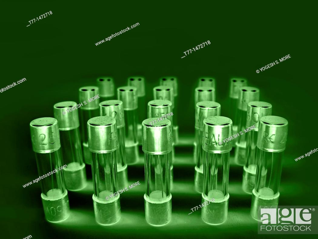 Stock Photo: Five Ampere Fuse, 250 Volts.