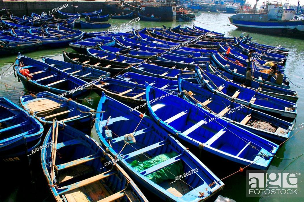 Stock Photo: Fischerboote in Agadir Morocco.
