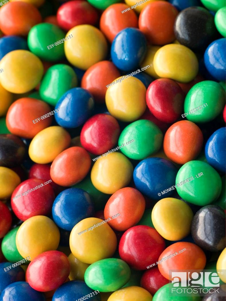 Stock Photo: Candy coated Chocolate Drops.