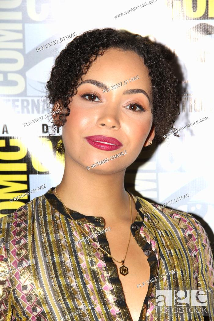 Madeleine Mantock promoting her new television show